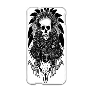 DIY Printed Skull hard plastic case skin cover For HTC One M7 SN9V892308