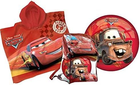 Cars Juego Poncho + Balón + Mochila Cars playa playa mod395 ...