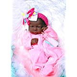 """My Cute African American Baby Girl Realistic Berenguer 15"""" inches Anatomically Correct Real Alive Baby Washable Doll Soft Vinyl With Extras Accessories"""