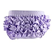 Wennikids Baby Girl's Cotton Shorts and Diaper Cover Bloomers Medium Lavender