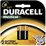 Duracell MN9100/E90/LR1 Medical Battery 1.5 V Card 2 Size N