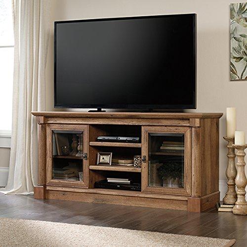 Sauder Palladia TV Stand in Vintage Oak (Vintage Tv Oak)