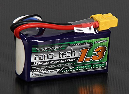 Turnigy nano tech 1300mAh 45 90C Lipo product image