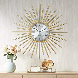 River Parks Studio Castallia Gold 28 Round Metal Wall Clock
