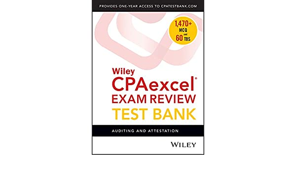 Wiley cpaexcel exam review 2018 test bank auditing and attestation wiley cpaexcel exam review 2018 test bank auditing and attestation 1 year access wiley 9781119480778 amazon books fandeluxe Gallery