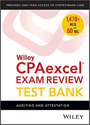 Wiley cpaexcel exam review 2018 test bank auditing and attestation wiley cpaexcel exam review 2018 test bank auditing and attestation 1 year access 1st edition fandeluxe Gallery