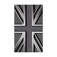 CafePress - Union Jack Brushed Metal - Rectangle Bumper Sticker Car Decal