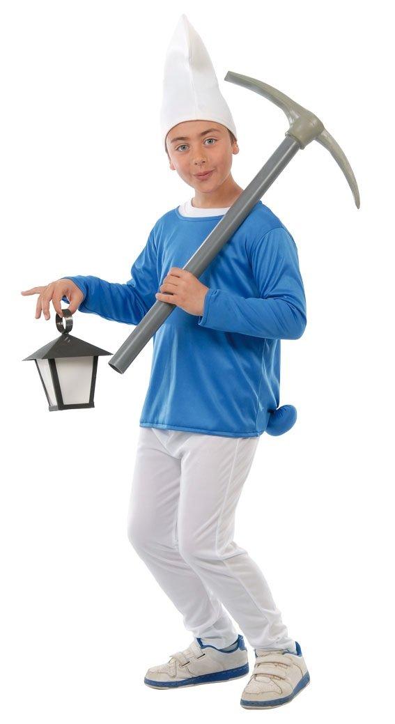 Guirca Costume da Puffo per Bambini, 5-6 anni 81554