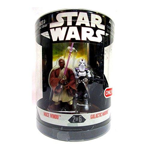 "Star Wars "" Order 66 "" MACE WINDU & Galactic Marine Target Exclusive MIB"