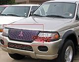 APS U65114A Polished Aluminum Billet Grille Bolt Over for select Mitsubishi Montero Sport Models
