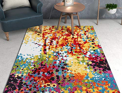 Well Woven VI11-5 Viva Partridge Modern Abstract Dots Multi Bright Area Rug 5'3