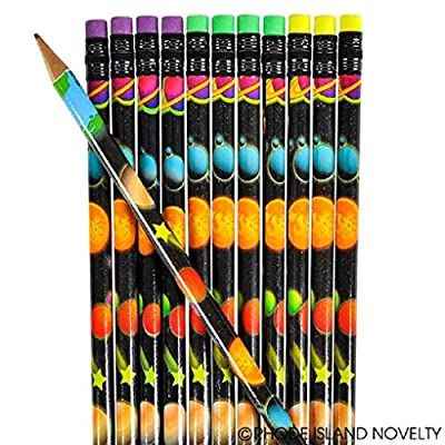 OUTER Space Themed Pencils - CLASSROOM - Party Favors - Doctor/DENTIST Treats TEACHER Solar System - SCIENCE (Four Dozen (48)): Office Products