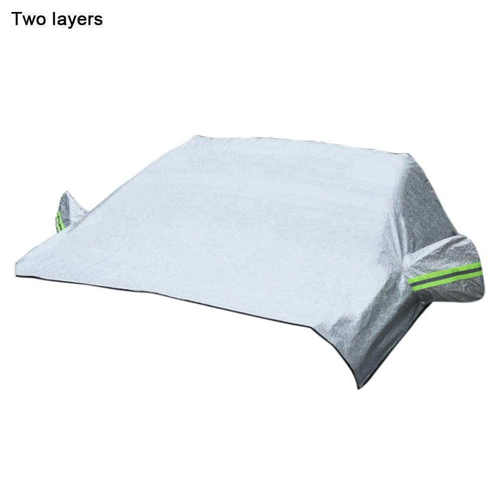 Dinapy Couverture Pare-Brise Voiture B/âche Pare Brise Avant Anti Givre Protection pour Pare-Brise de Voiture Anti UV Repliable Universel Couverture pour Voiture Anti Neige