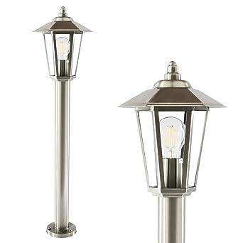 Sockelleuchte Aussenlampe Wegeleuchte Edelstahl Design Aussenleuchte Stehlampe