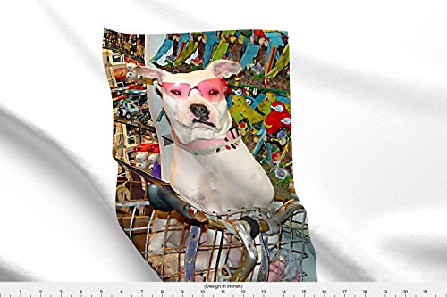 Dog Fabric Key West Celebrity by Jeanmacalusofineart Printed on Fleece Fabric by the Yard by - Celebrities Sunglasses On