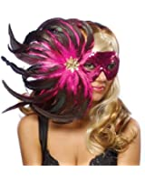 Goddessey Adult Pink Feather Costume Mask