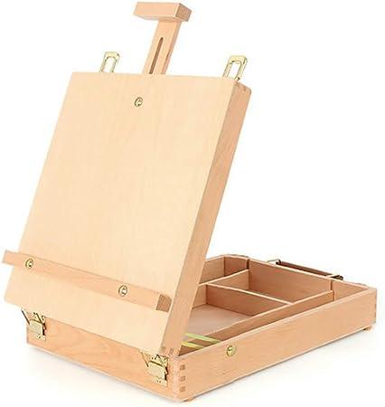 Caballetes de mesa de madera, caja de caballetes de dibujo, paleta de pintura, caja de dibujo ajustable para niños, dibujo de pintura para principiantes, Madera, Tamaño libre: Amazon.es: Hogar