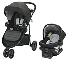 Graco's Modes 3 Lite Travel System gives you 5 ways to ride on a sporty 3-wheel frame, signature FastAction Fold and Graco's SnugRide SnugLock 30 infant car seat. 5 ways to ride includes infant car seat on frame facing parent or the world, st...