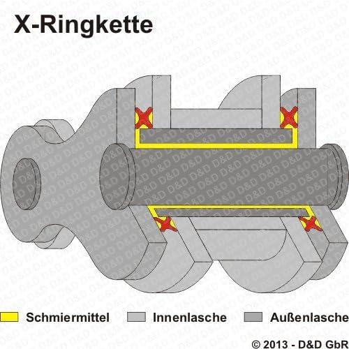 Kettensatz f/ür Honda CBR 600 RR DID X-Ring super verst/ärkt chrom PC40 2007-2013