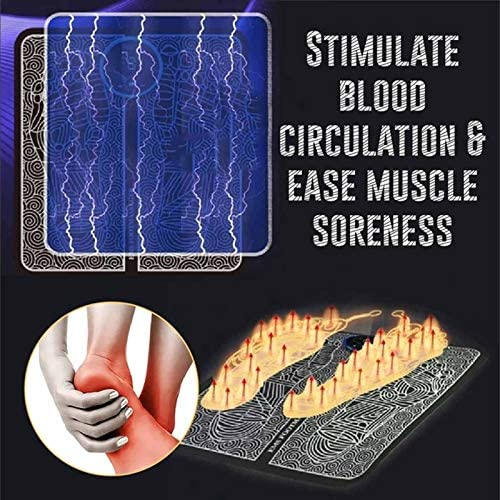 EMS Foot Massager Machine, Leg Reshaping Portable Foot Electric Stimulator Massage Mat, Super Thigh Fat Burner Thigh Shaper Pad Foot Relaxation 3
