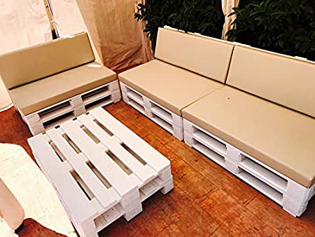 Dydaya Estructura de Sofa de Palet/Pallets Color Blanco con ...