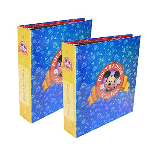 Disney Parks Exclusive Pin Trading 3-Ring Binder Album Book with Set of Pins Pages and Dividers Pack of 2 by Disney Parks