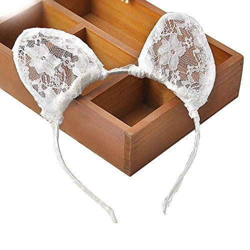 [BUYITNOW Lace Cat Ears Hairband Women Wedding Photography Props Hair Style Accessory] (Toddler Cat Costume Ideas)