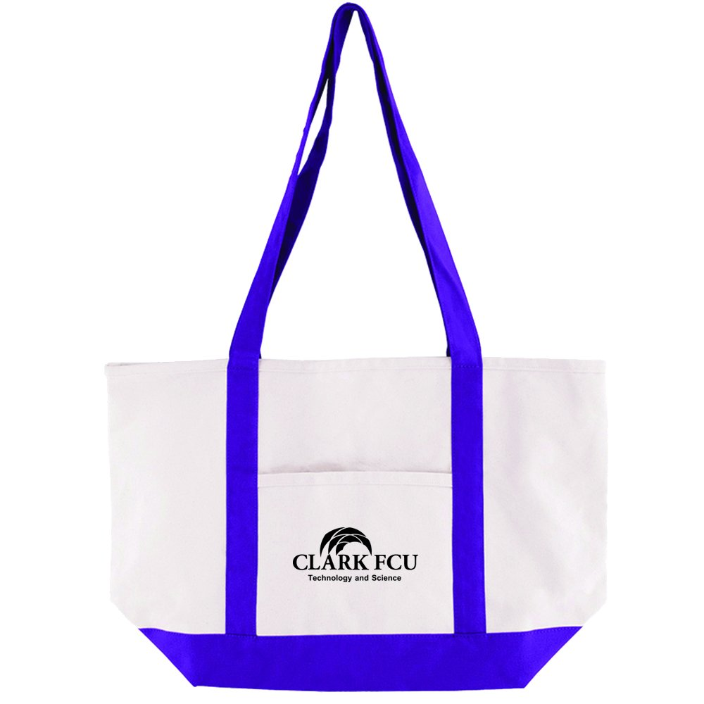 Cotton Canvas Boat Tote - 25 Quantity - $12.15 Each - PROMOTIONAL PRODUCT / BULK / BRANDED with YOUR LOGO / CUSTOMIZED by Sunrise Identity (Image #2)
