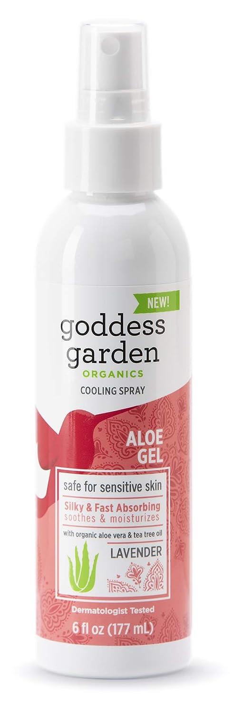 Goddess Garden Organics Baby Cooling Aloe Gel Pump Spray for Sensitive Skin (6 oz. Bottle), Soothing Aloe Vera Gel, Fast-Absorbing, Ease Irritation and Dryness, Vegan, Leaping Bunny certified