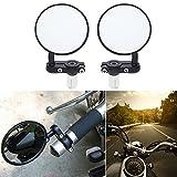Motobiker 2Pcs Universal Motorcycle Mirror Aluminum Black 22mm Handle Bar End Rearview Side Mirrors Motor Accessories