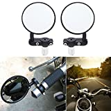 "Motobiker 1Pair Motorcycle Convex Rear View Mirror - with 10mm Bolt, 7/8"" Handle"
