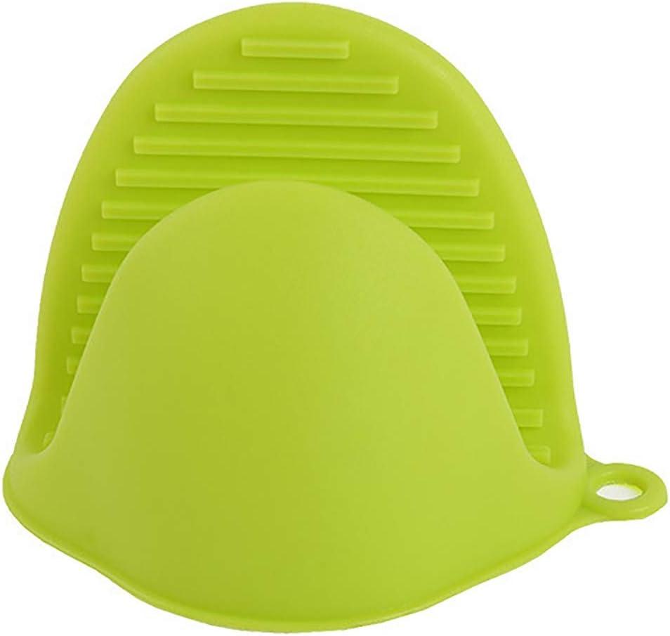 WISREMT Soporte de olla de silicona Mitón de horno Mini guantes de horno Guantes Anti-escaldado Tazones Clips Bandeja de aislamiento Plato Horno Clip de mano Horno de microondas Clip de mano