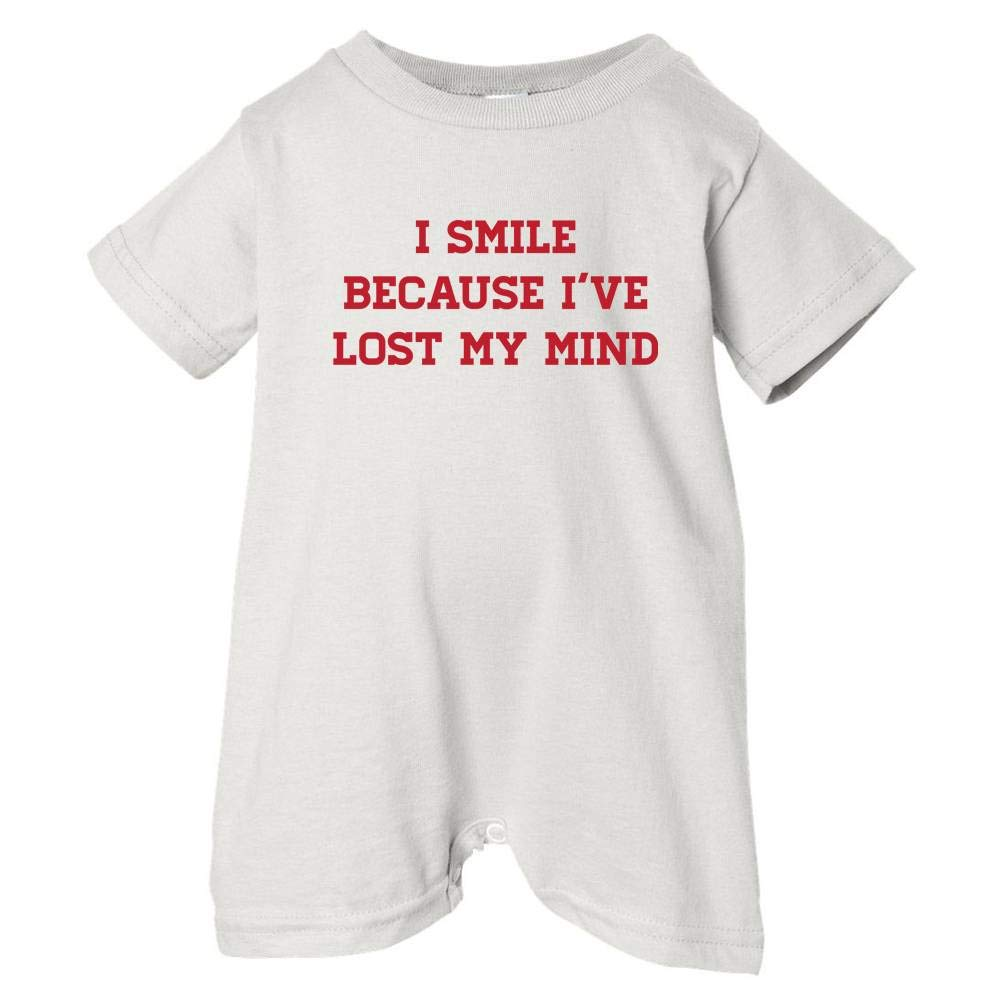 Mashed Clothing Unisex Baby Smile BC Ive Lost My Mind T-Shirt Romper