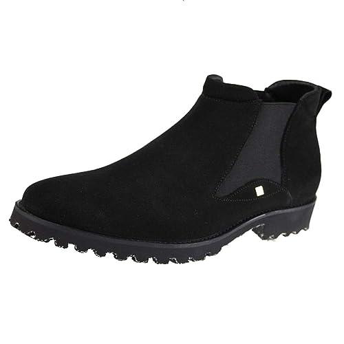 Chelsea Boots Hombres Cuero Negro Oxblood Safety Brogue Classic Botín Botas De Cuero Cuero Botines Zapatos De Tacón Alto: Amazon.es: Zapatos y complementos
