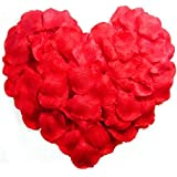 WINOMO Rosso di seta artificiale 1000pcs rosa petali decorazioni per la festa di nozze