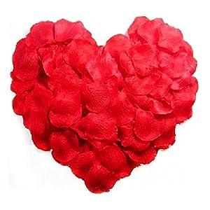 Rose Petals Silk Red Rose Petals Decorations for Wedding Party Romantic Night 1000pcs 46