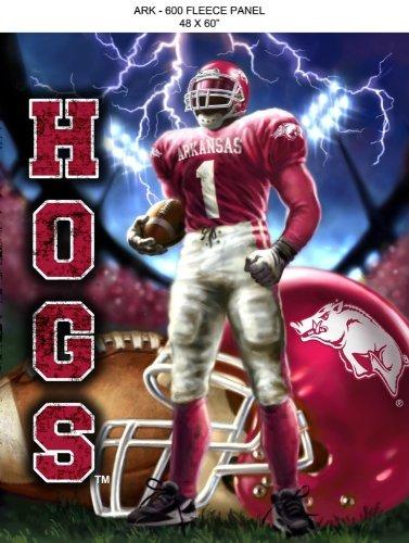 - NCAA Arkansas Razorbacks 48'' x 60'' Lightning Fleece Blanket