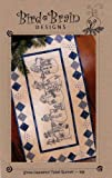 Snow Happens Table Runner: Quilt and Hand Embroidery Pattern # 568 By Bird Brain Designs