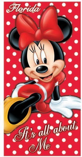 Disney Minnie Mouse It's All About Me Florida Beach Towel