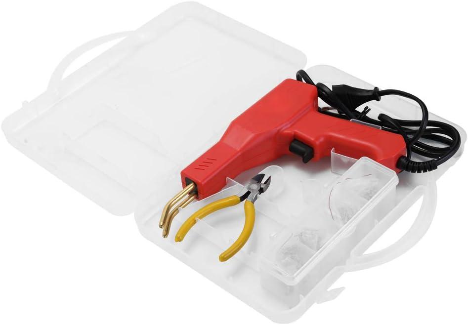 KKmoon Pistola Saldatrice con Accessori per Macchina Graffatrice PVC Riparazione Auto Riparazione Paraurti Calda Cucitrice Meccanica Strumento