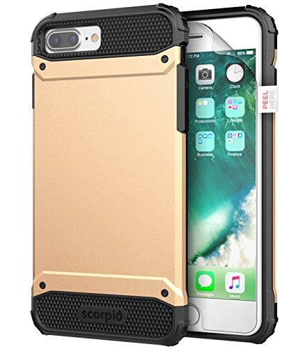 (iPhone 8 Plus Case w/ Screen Protector, Encased [Scorpio R7 Series] Dual Layer Protective Case for Apple iPhone 8 Plus 5.5