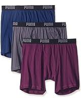 Puma Men's 3-Pack Volume Cotton Wicking Boxer Brief