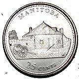Canada 1992 MB 25 cents Manitoba UNC Provincial Canadian Quarter