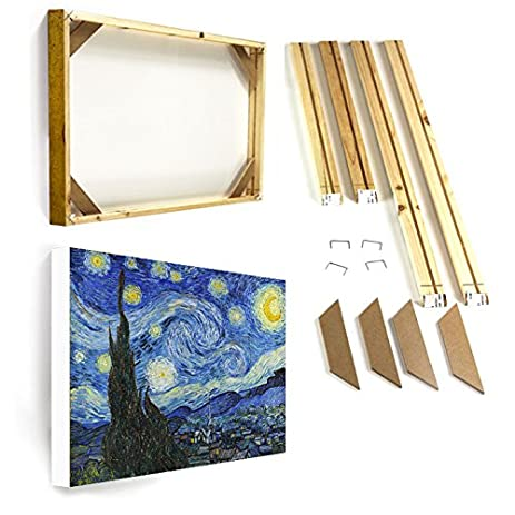 Amazon.com: Starry Night Oil Painting DIY Wooden Frame + Canvas ...