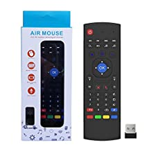 QQPOW Multifunction Portable 2.4ghz MX3 Air Mouse Mini Wireless Keyboard Infrared Remote Control for Android TV Box
