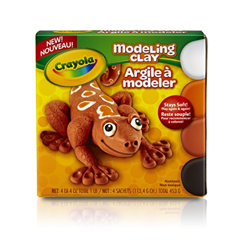 (Crayola Modeling Clay, Non Drying, Assorted Colors, 1lb)