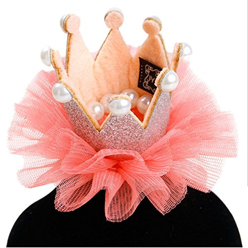 (Stock Show 1Pc Pet Dogs Hairpin Princess Style Laced Crown Hair Clips Headdress Grooming Accessories for Cats Puppy Rabbits,)