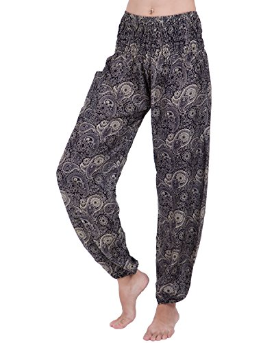 Rita & Risa Women's Boho Printed Elastic Waist Long Yaga Harem Pants (Sexy Outfits For Guys)