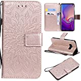 Luckyandery Galaxy S10 lite Wallet Case Holster, Folio Stand Card Holders Shockproof Protective Full Body with Wrist Strap Case for Galaxy S10 lite