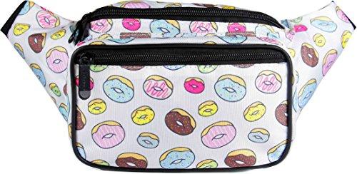 SoJourner Donut Fanny Pack - Cute Packs for men, women festivals raves   Waist Bag Fashion Belt Bags